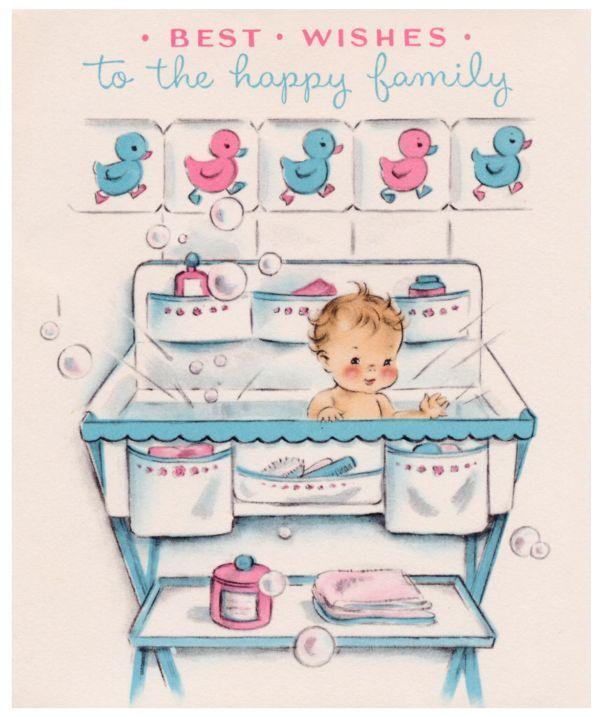 Carte de vœux Happy Baby Shower..