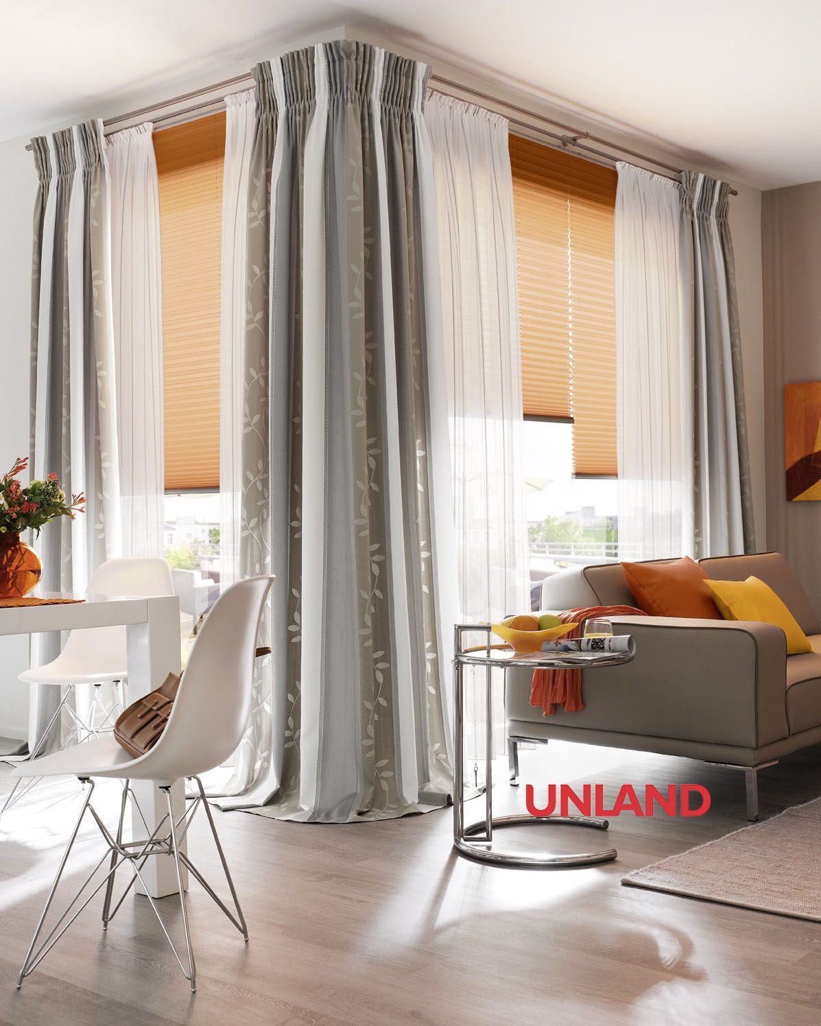 Unland Selene Fensterideen Vorhang Gardinen Und Sonnenschutz Curtains Contract Fabrics Pleated Blinds Roller Blind Home Decor Home Curtains With Blinds