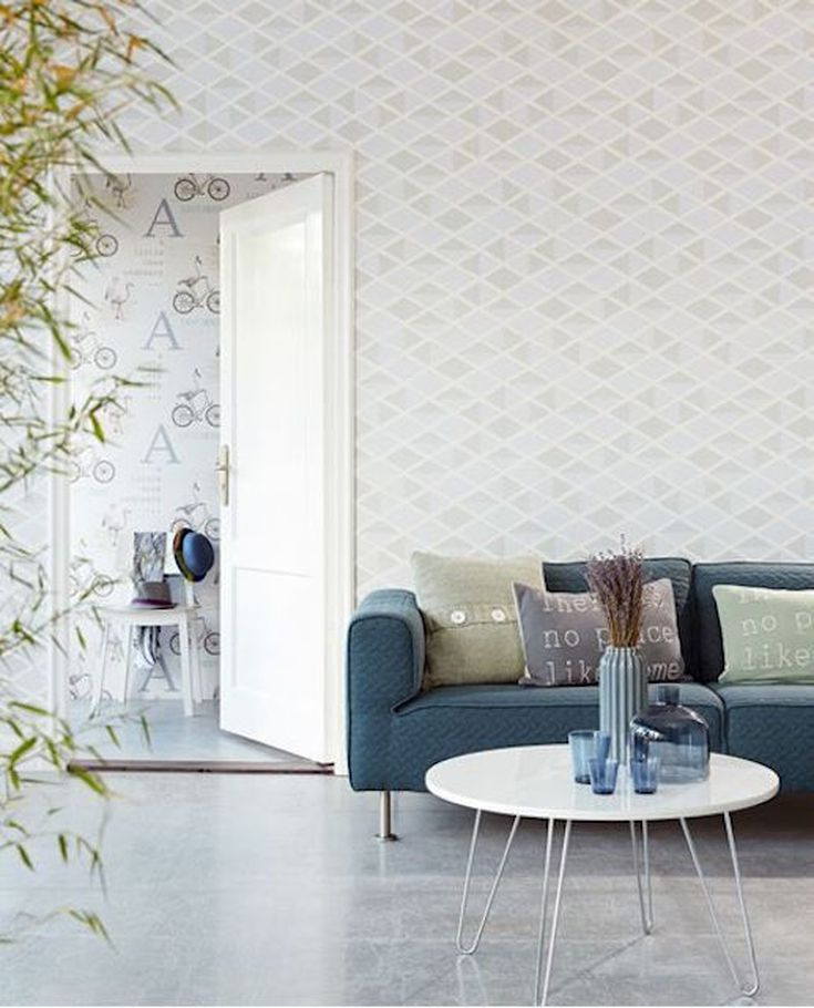 10 Rooms Flawlessly Working the Geometric Wallpaper Trend