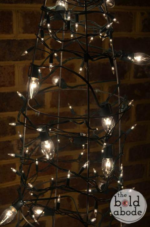 tomato cage christmas trees-10
