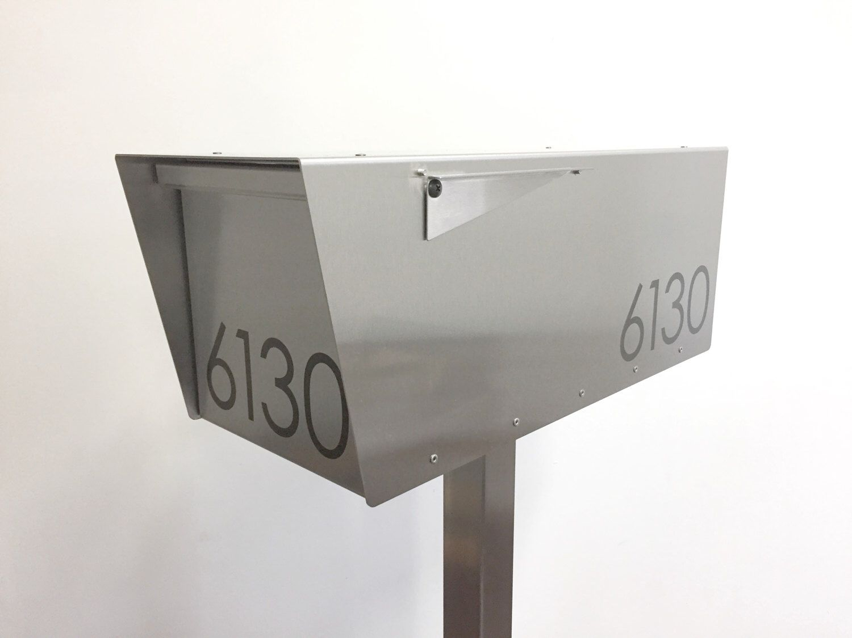 The Minimalist Anthony S Modern Mailbox Mid Century Contemporary Post Mounted Locking Option Post Mount Post Not Included Modern Mailbox Contemporary Mailboxes Wall Mounted Mailbox