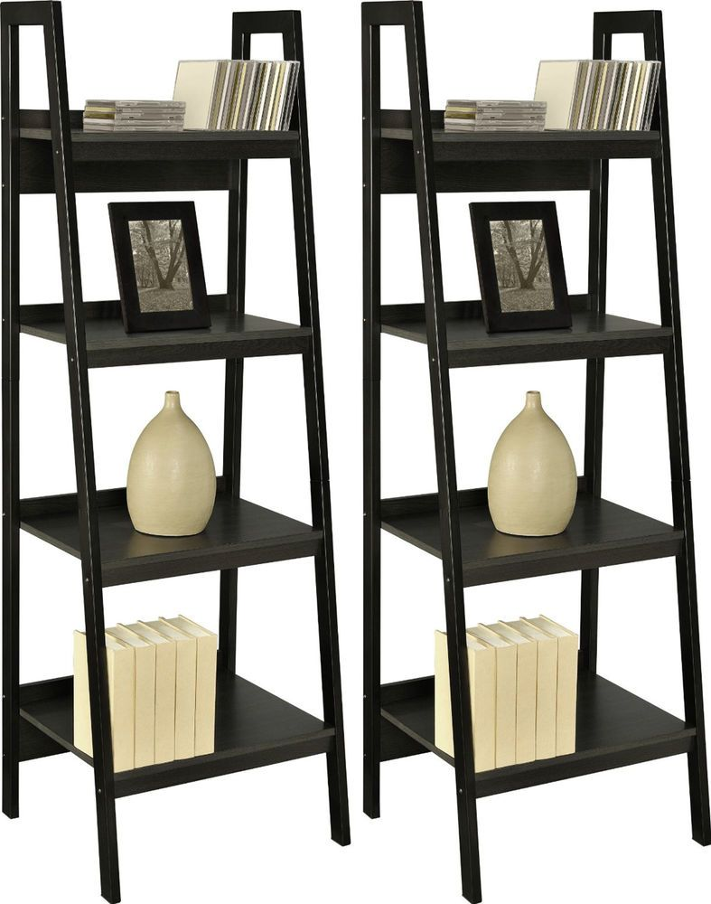light stunning stan computer ladder ideas floor affordable finish brown high furniture dark black hardwood with shelf gloss desk placed interior bookcase lacquer gray on bookcases