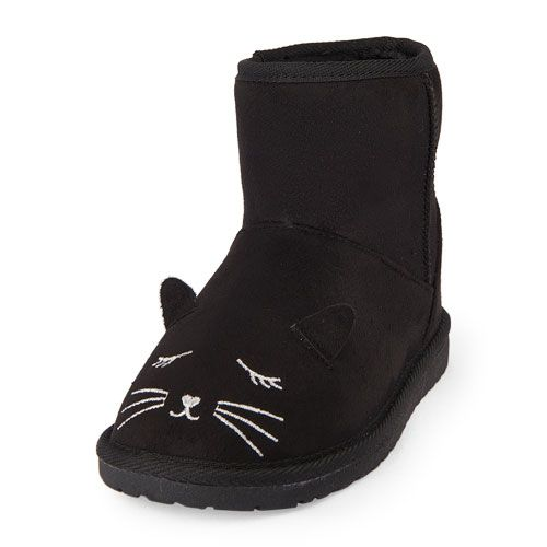 enjoy bottom price best choice best sell Girls Cat Face Challet Boot - Black - The Children's Place ...