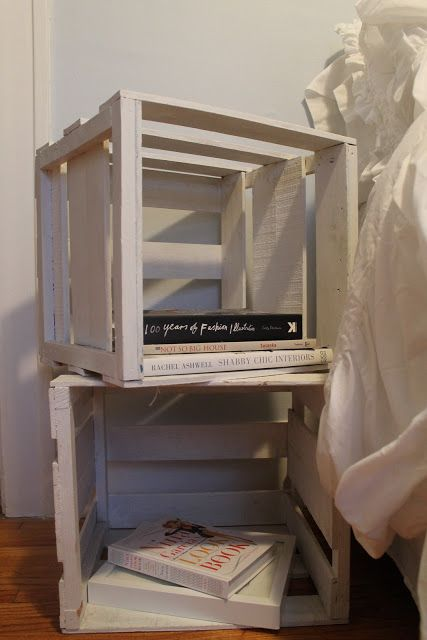 Hammers and High Heels--crates as nightstands