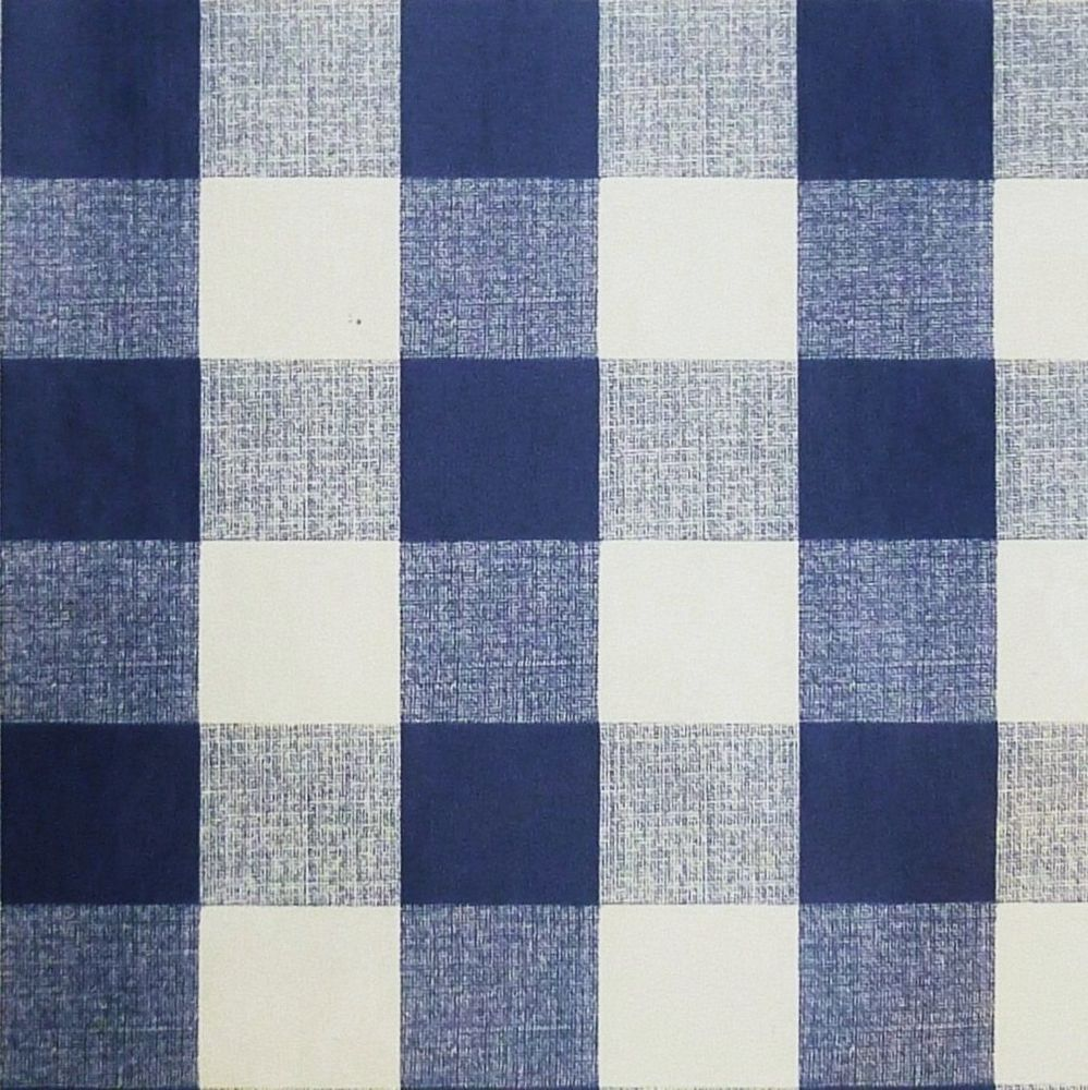 Details About Navy Blue White Pvc Tablecloth 1 Gingham Fabric