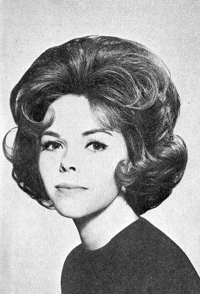 60s curly bouffant hair vintage