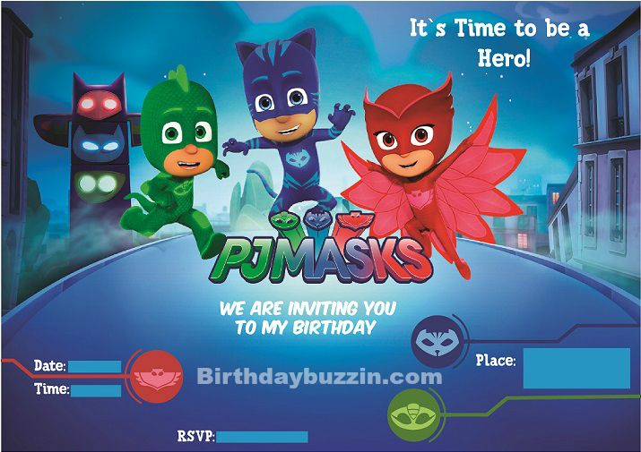 Use These Free Printable PJ Masks Birthday Invitations To Get The Word Out All Heroes About Your Party Each Invitation Features Catboy