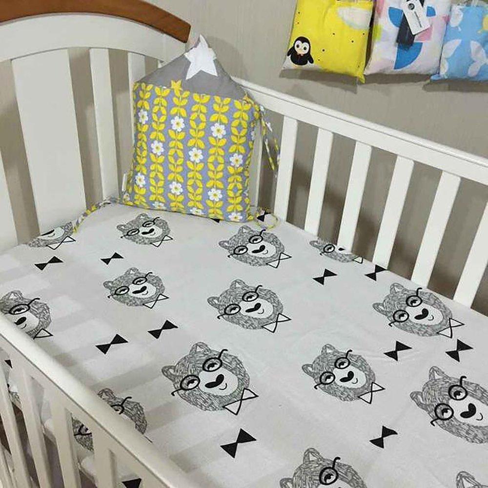 70*130cm Baby Bed Crib Sheet Mattress Cover Muslin Tree