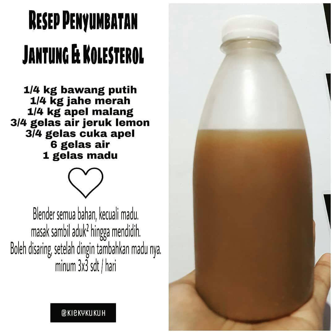 Endang Titiek Rusdiyarti Di Instagram Reposted From Kiekykukuh Resep Pemyumbatan Jantung Kolesterol Penyempitan Ata Obat Alami Resep Sehat Resep Diet