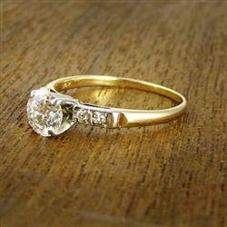 Vintage Diamond Engagement Ring c.1960....so simple and elegant