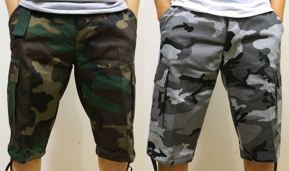 0c015fc95f Men's REGAL WEAR MISKEEN Belted Camouflage Cargo Shorts City Gray Woodland  Green #RegalWearMiskeen #Cargo