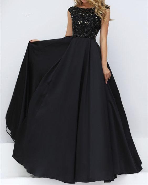 8155521a9a Elegant Prom Dress New Gorgeous prom dresses black Sweet 16 Gowns black  evening dresses long Quinceanera Dresses