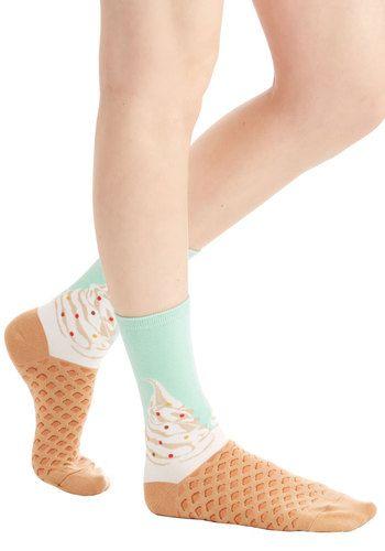 To Each Her Cone Socks | Mod Retro Vintage Socks | ModCloth.com