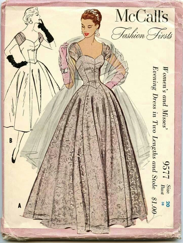Late 1950\'s.... | costuras/sewing patterns | Pinterest | Bocetos de ...