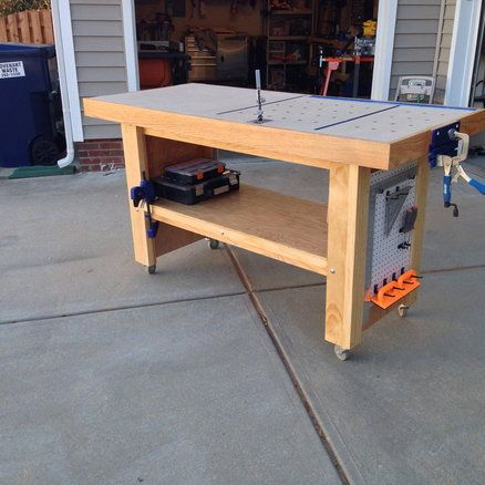 Outstanding Hybrid Workbench Assembly Table Made Mostly From Oak Download Free Architecture Designs Embacsunscenecom