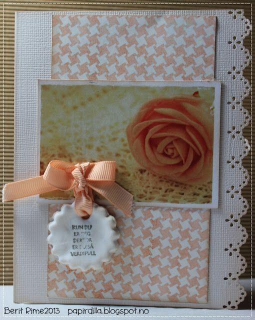 Minikort med tekst på fimoleire Tekst fra Unik Hobby