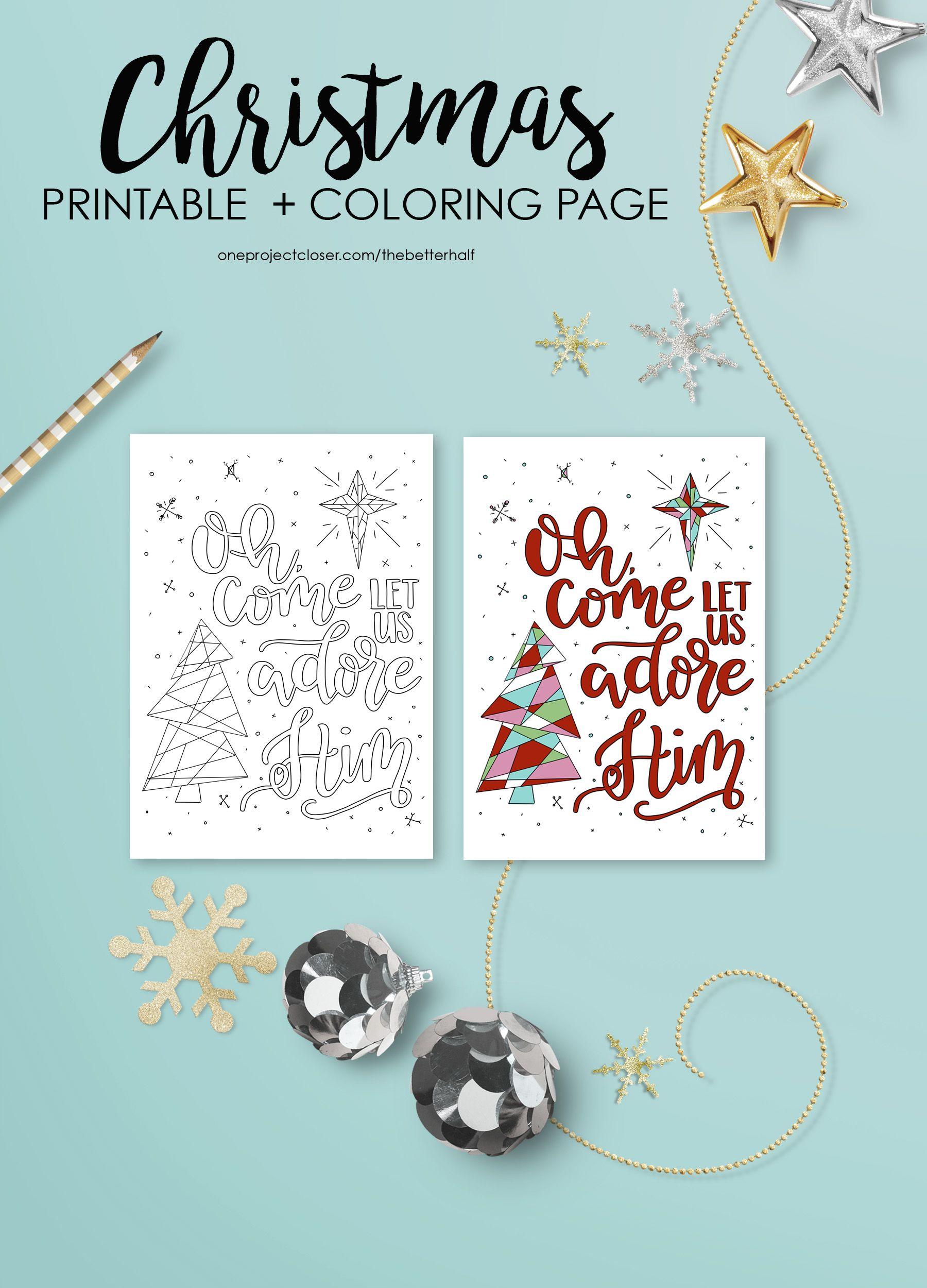 Free Christmas Coloring Page + Printable | Pinterest | Christmas ...