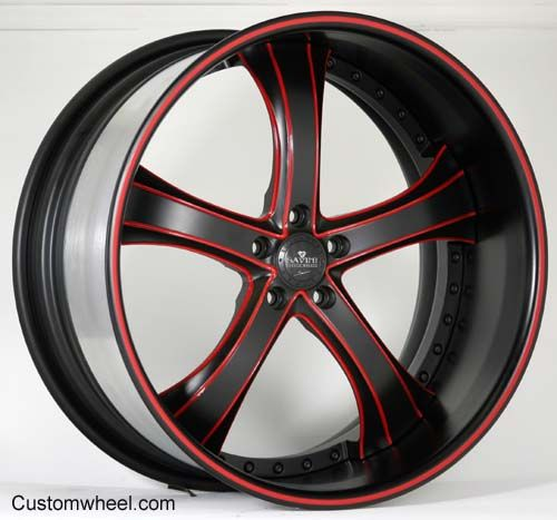 You Found The Swoops Wheels From Rucci Rucci S Swoops: SV33 - Black / Red - Custom