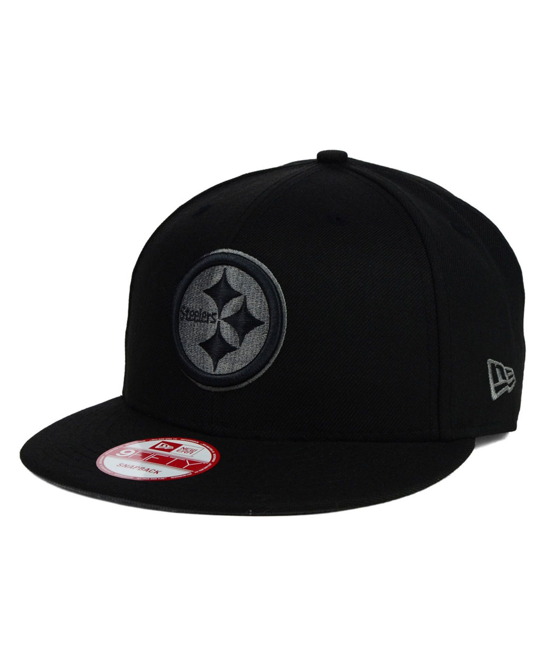 New Era Pittsburgh Steelers Black Gray 9FIFTY Snapback Cap