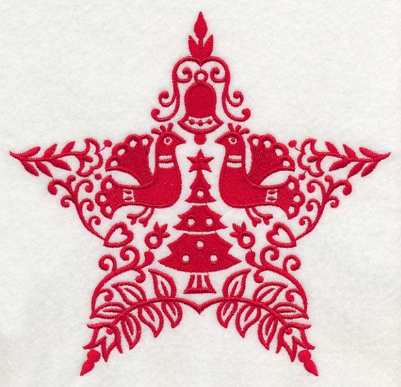 Machine Embroidery Designs At Embroidery Library Scandinavian Christmas Star Scandinavian Christmas Handmade Christmas Ornaments Nordic Christmas