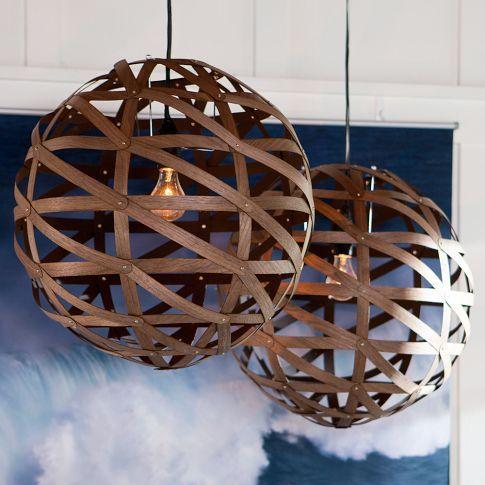 wood veneer orb pendant
