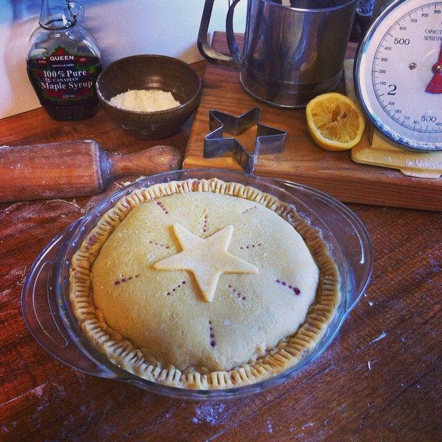 Blueberry, maple pie.