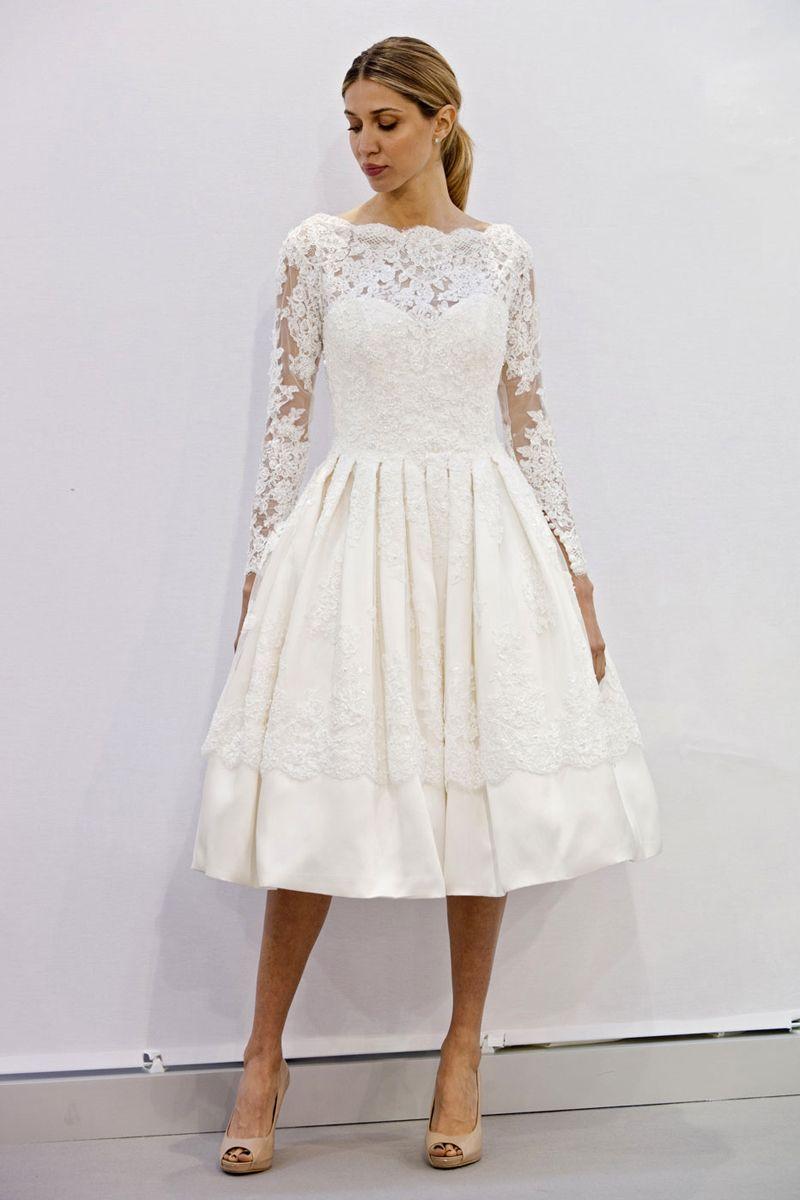 Best wedding dresses for short waisted  The Best Short Wedding Dresses From Fall  Bridal Week  Ellis