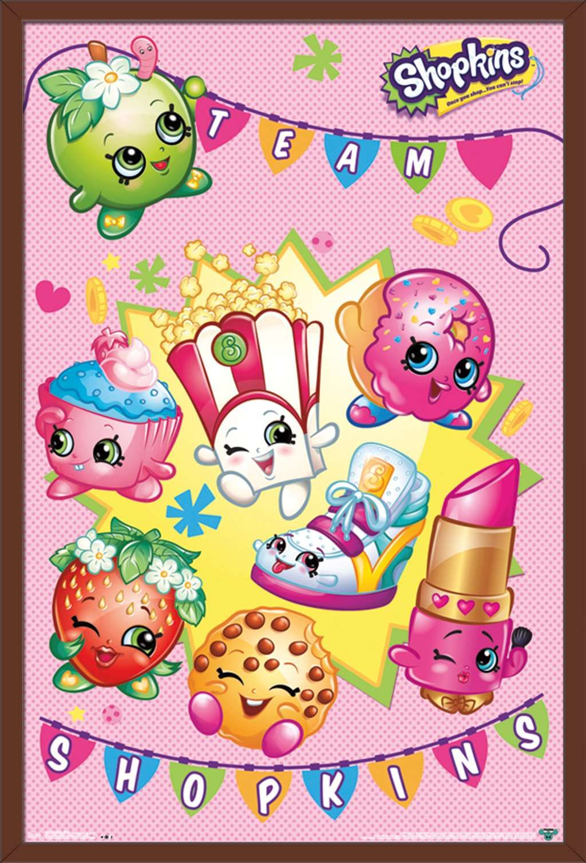 Shopkins Shop Poster Walmart Com In 2021 Shopkins Poster Prints Cartoon Posters