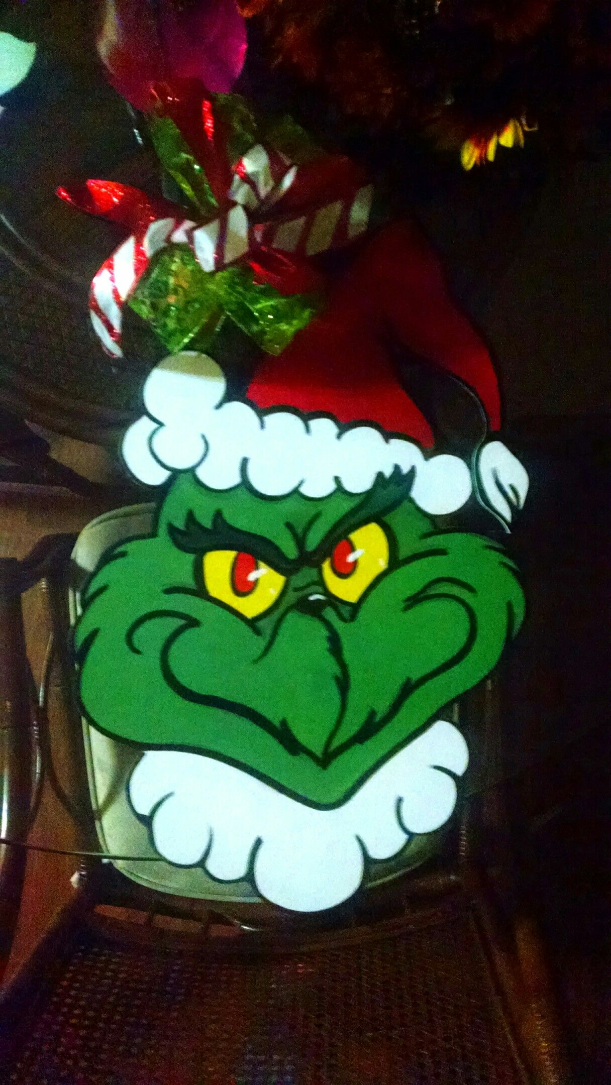 Grinch Door Hanger Christmas Whoville Grinchmas Decorations 35 Tenad9869 Gmail Com Christmas Door Hanger Christmas Crafts Christmas Decorations
