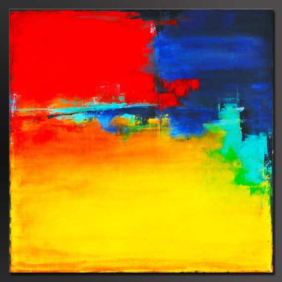 Fiesta - 24 x 24 - Abstract Acrylic Painting- Contemporary Wall Art - Modern