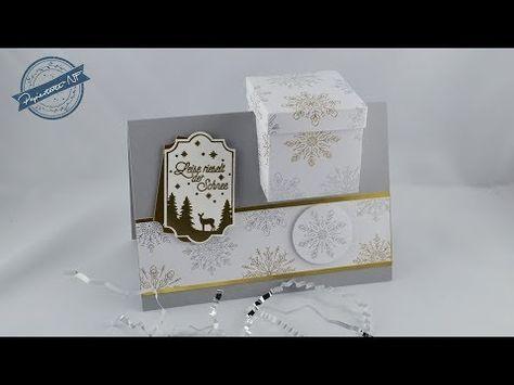 Anleitung: Geschenkbox in der Karte - YouTube