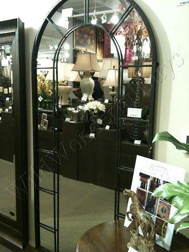 Foyer Mirror Jewelry : Xl large floor metal arch mirror foyer wall
