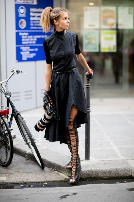 Rockstar! #dress #black #shoes