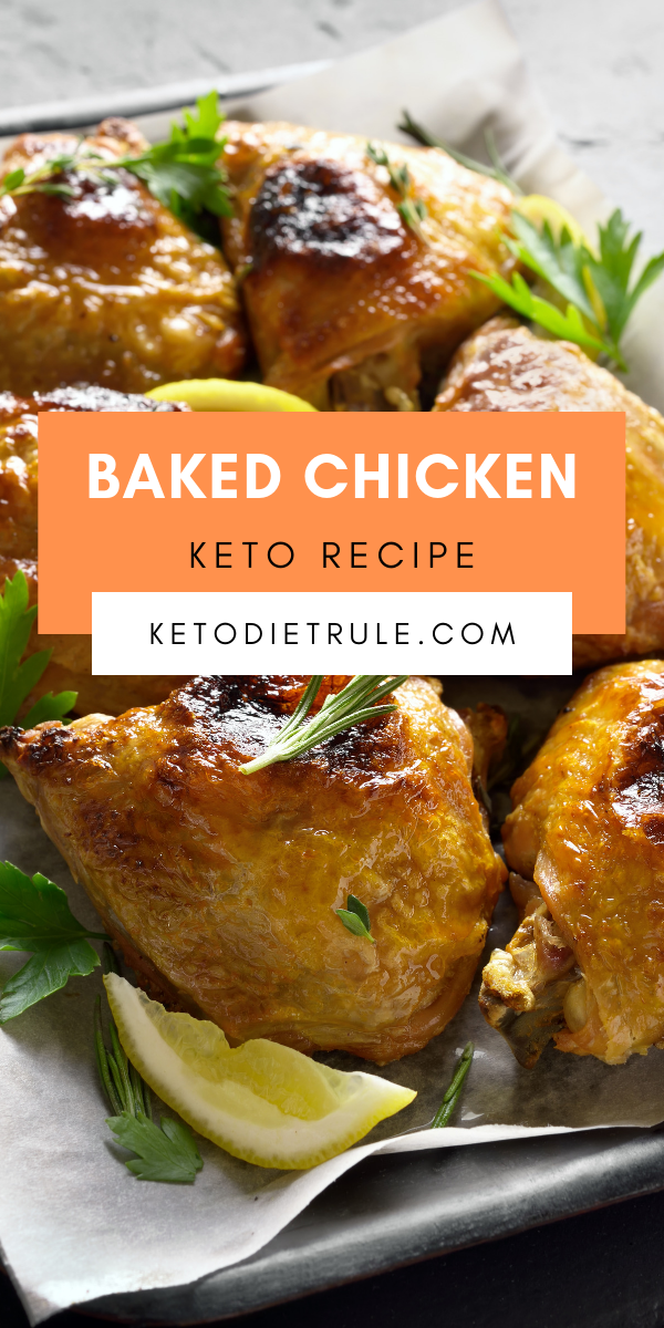 Low Carb Baked Chicken Recipe With Herb Butter Keto Recipe Recipes Herb Chicken Recipes Chicken Recipes