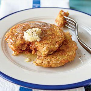 Carrot Cake Pancakes | MyRecipes.com #myplate #grain #vegetables
