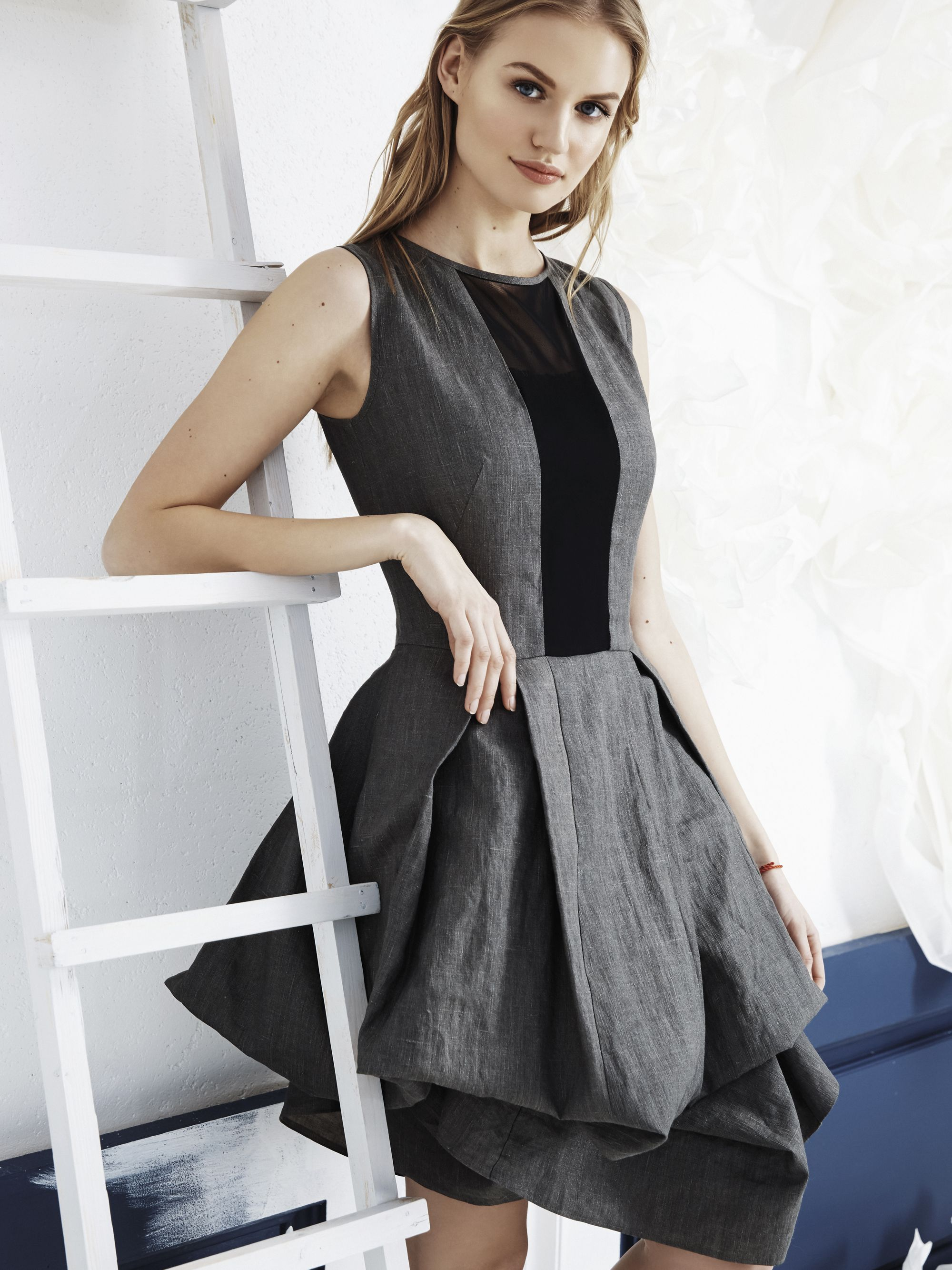 Capsule collection dedicated to very special linen dresses linen