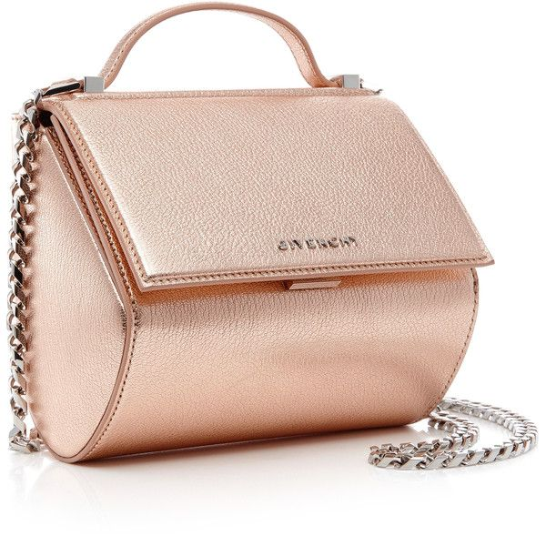 Givenchy Mini Pandora Box Leather Shoulder Bag ( 2,250) ❤ liked on Polyvore  featuring bags, handbags, shoulder bags, pink crossbody purse, pink shoulder  ... 9618dc1266