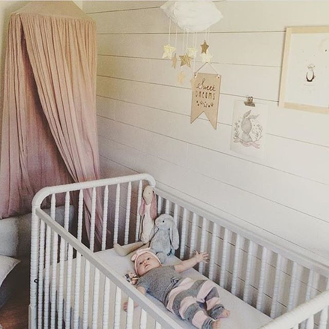 Girly Pink Nursery Decor: We're Soooo Feelin' This Pretty Baby Girl Nursery. Shiplap