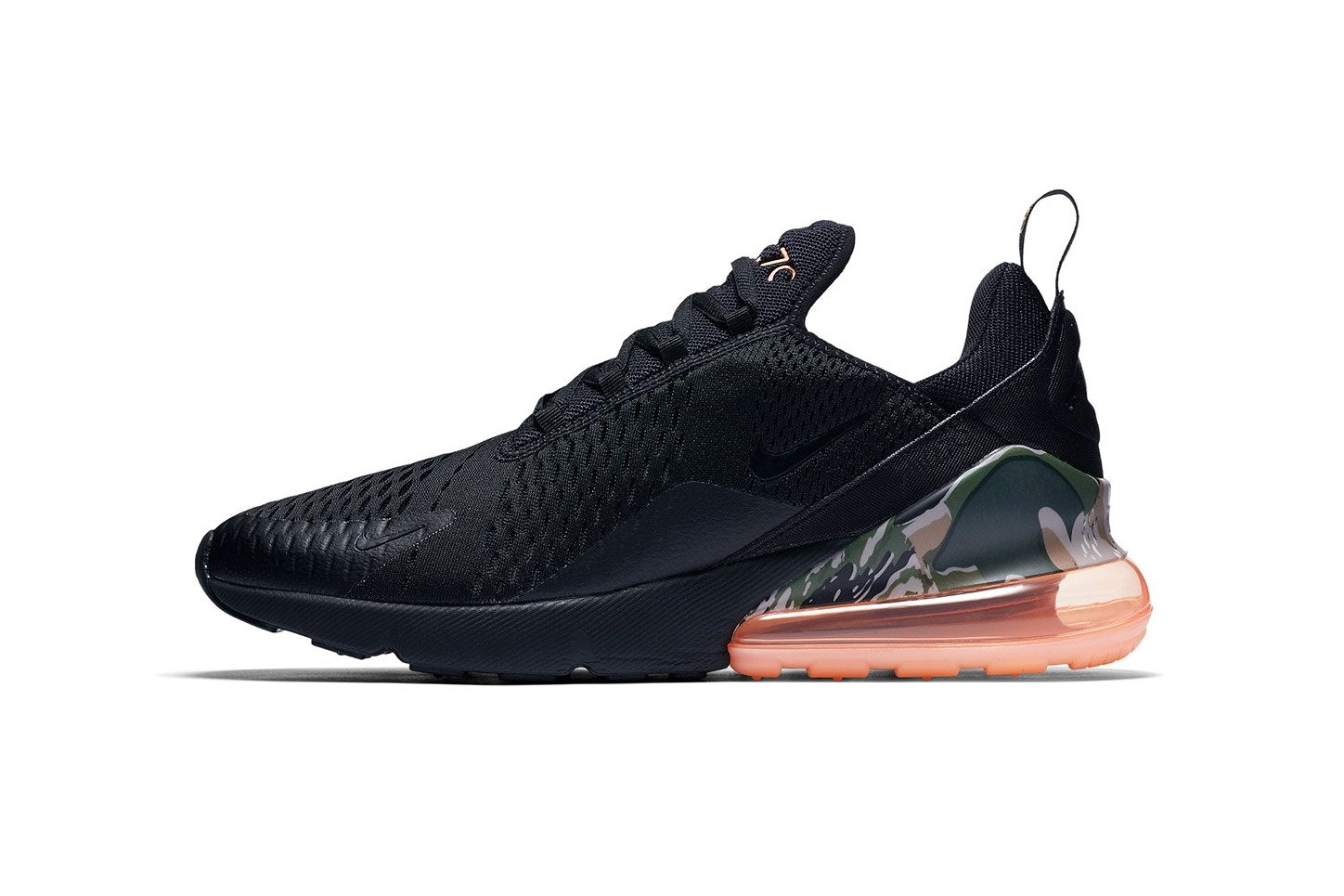 Nike S Air Max 270 Appears In Black Coral Camo Nike Air Max Camo Heels Sneakers Nike Air Max