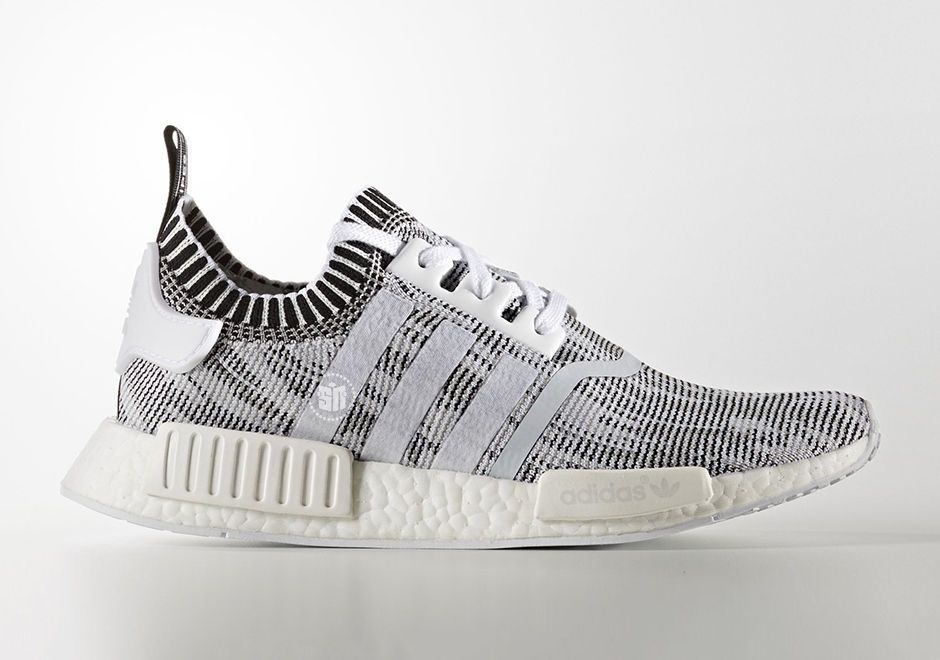 12e06577146b3 Kids Adidas NMD R1 PK White Black Glitch Camo Oreo Ultra Boost XR1 OG BY1911