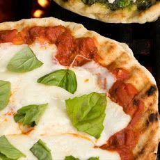 Mozzarella and Fresh Basil Grilled Pizza Recipe Recipe