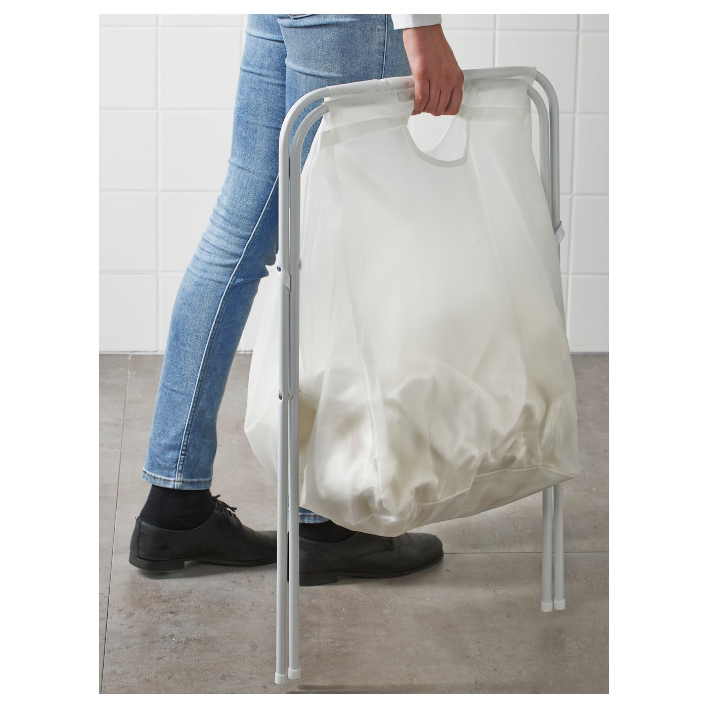 Jall Laundry Bag With Stand White 18 Gallon Mit Bildern