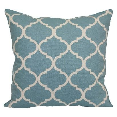 Threshold Oversized Lattice Pillow This Comes In Blue Or Yellow As Well