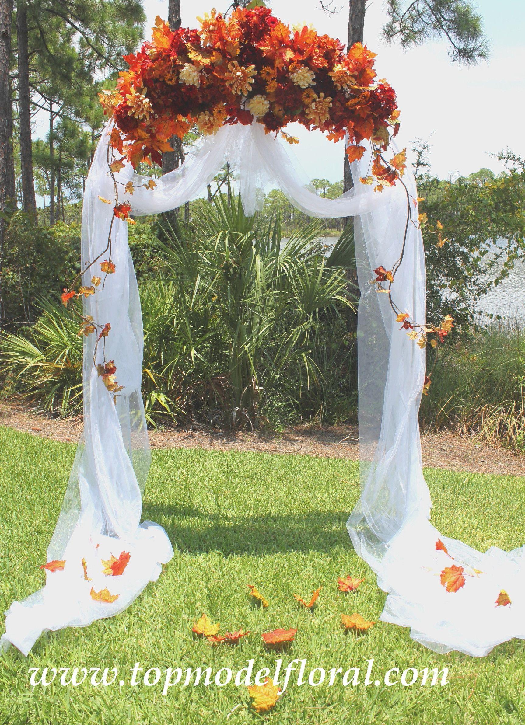 Fall Wedding Centerpieces a Bud