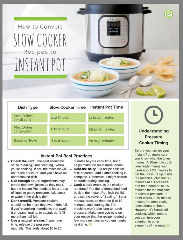 Convert Crock Pot Recipes To Pressure Cooker Instant Pot Instant Recipes Instant Pot Recipes