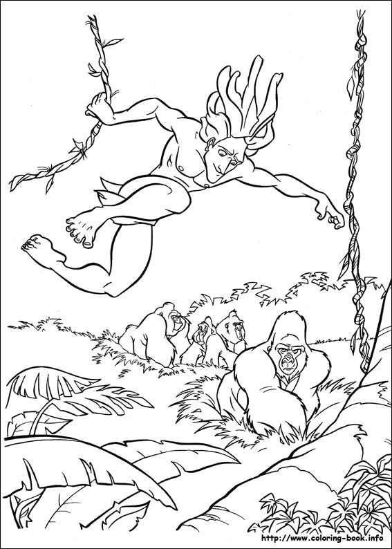 Coloriages C Tarzan