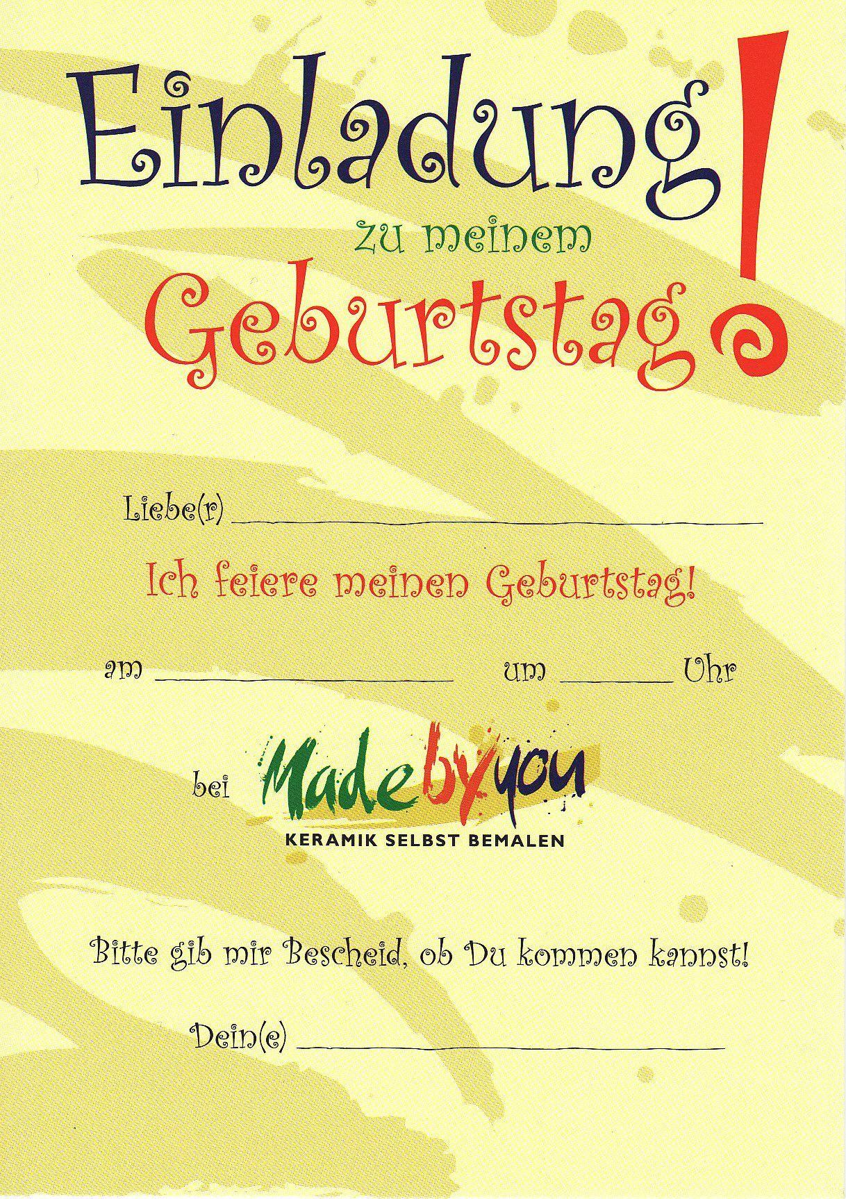 kindergeburtstag einladungen zum ausdrucken kostenlos | geburtstag, Einladung