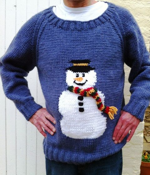 Snowman Jumper Chunky Knitting Pattern By Berniebeeknits On Etsy