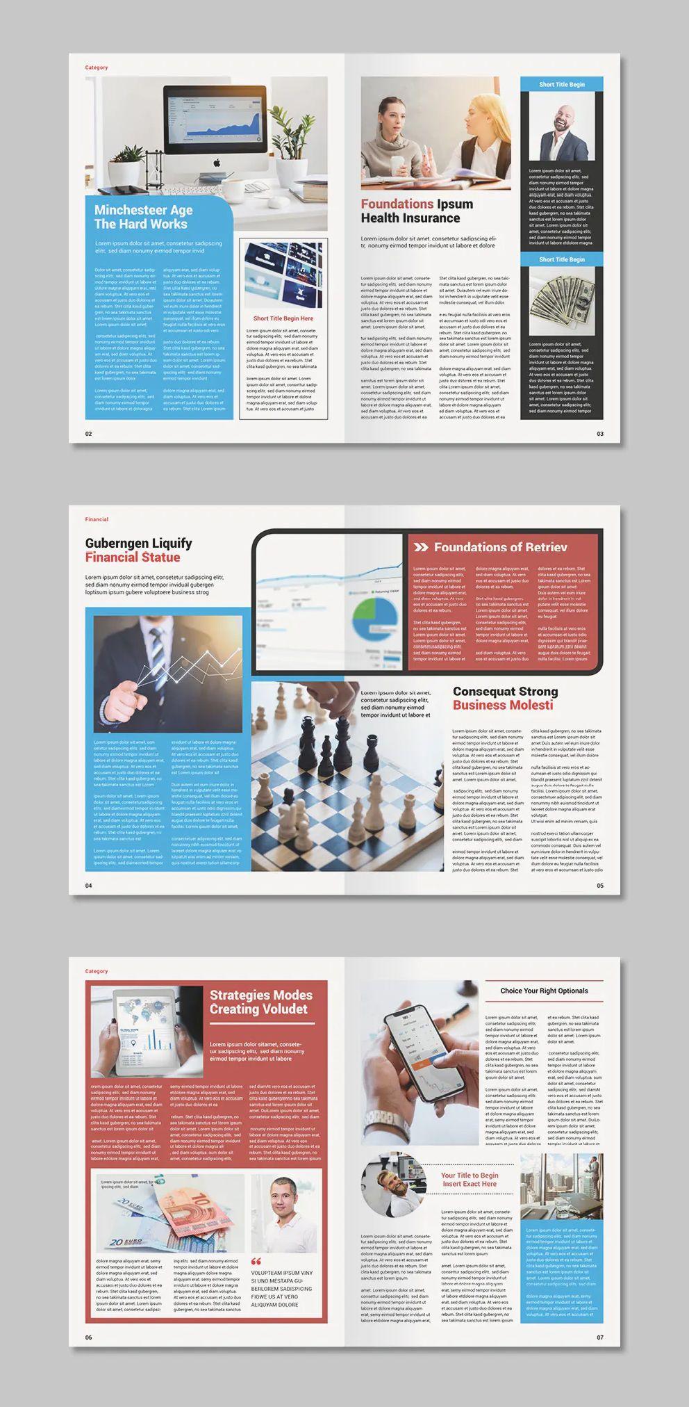 Multipurpose Newsletter Template 10 Custom Pages Newsletter Templates Newsletter Design Magazine Page Design
