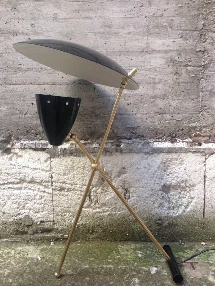 Lampada Da Tavolo Vintage Stilnovo Design Anni 50 Alluminio E Ottone V Dett Lampade Da Tavolo Vintage Decorazione Industriale Vintage Tavolo Vintage